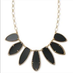 Stella & Dot   Black and Gold Statement Necklace